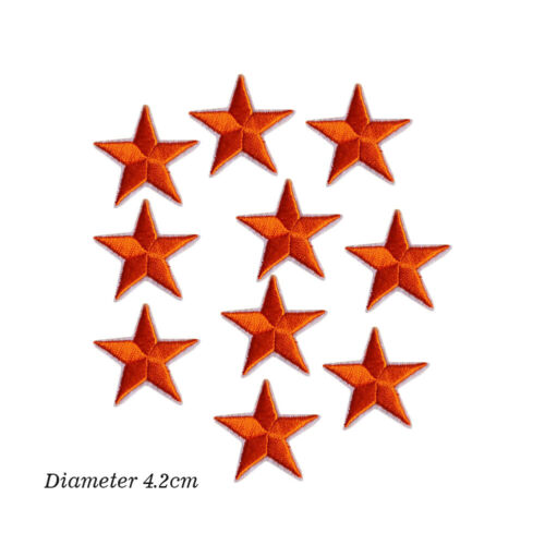 10PC Star Pentacl Embroidery Sew Iron On Badge Patch Clothes Applique Bag Fabric