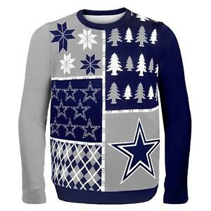f0f872ede NFL Dallas Cowboys Busy Block Ugly Crew Neck Adult Christmas Sweater ...