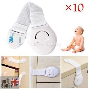 10x b b enfants protection s curit serrure bloque fermeture porte tiroir frigo ebay - Bloque tiroir securite bebe ...