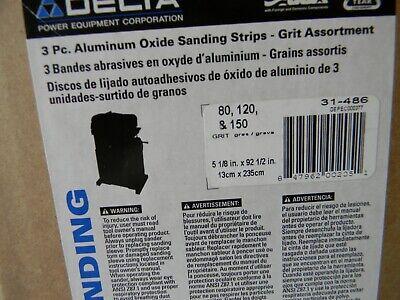 "120,150 grit Delta 5-1//8/"" x 92-1//2/"" strips for 26/"" double drum sander 80 3-25"