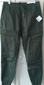 Men-039-s-Fairplay-Olive-Runner-Pants-w-drawstring-waist-Sz-30-NWT-Free-Shipping