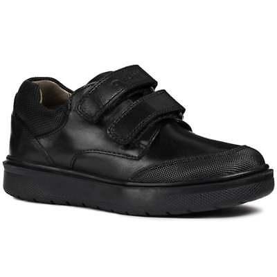 Geox Riddock Double Rip Tape Boys Junior School Shoes