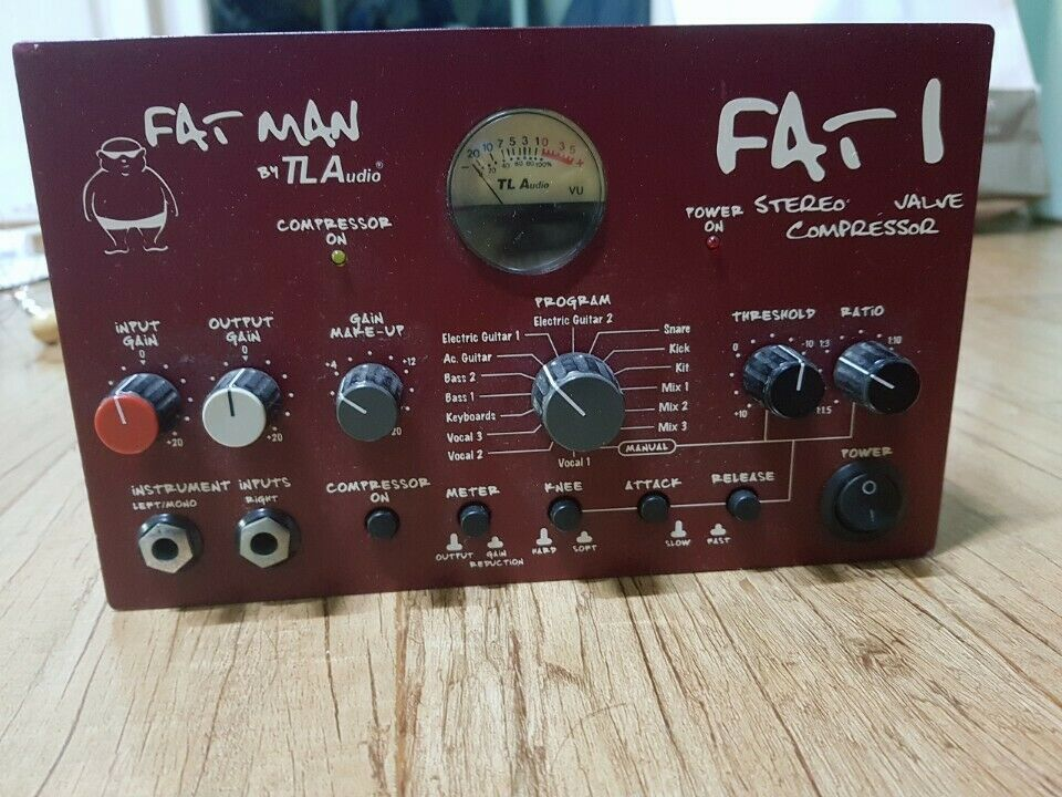 TL Audio Fat Man FAT 1 Stereo Valve Compressor