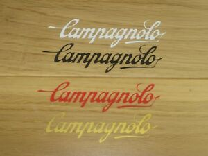 2-Campagnolo-Cycling-Stickers-Helmet-Frame-Forks-Box-Decals-bike-Eroica-Vintage