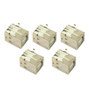 New-5-pcs-USB-Port-2-0-Connector-Type-B-Female-Replacement-for-Solder-Printer