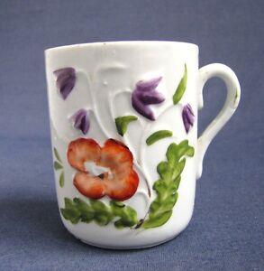 Ancienne tasse en porcelaine 1900 barbotine ebay - Vasque ancienne en porcelaine ...