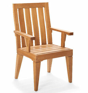Caranas Grade-A Teak Wood Dining Arm Chair Outdoor Garden Patio Furniture New
