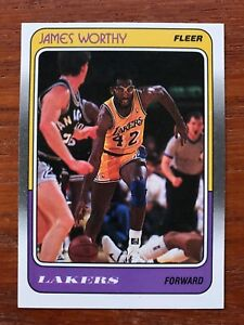 8b1b5a8d796 1988 89 Fleer Basketball Card  70 James Worthy Los Angeles Lakers ...