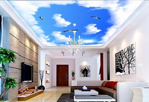 3D Sun Eagle Cloud 8 Ceiling WallPaper Murals Wall Print Decal Deco AJ WALLPAPER