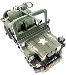 US-ARMY-MILITARY-JEEP-TIN-TOY-COLLECTABLE-LARGE-MODEL-PRESSED-METAL-1-12