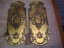 Reclaimed Solid Brass Door Finger Plates Antique finish 4 pairs