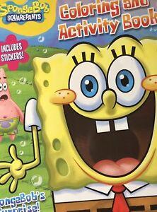 Spongebob Squarepants Jumbo Coloring Activity Book W Stickers Patrick Mr Krabbs Ebay