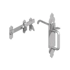 BZP-Gothic-Suffolk-Latch-Traditional-Gate-Thumb-Catch-External-Garage-Shed