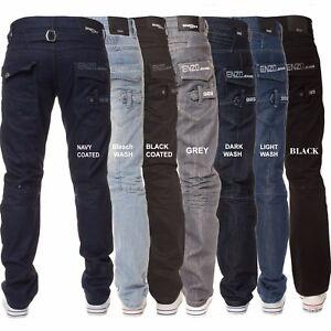 New-Mens-ENZO-Branded-Straight-Fit-Regular-Leg-Denim-Jeans-All-Waist-King-Sizes