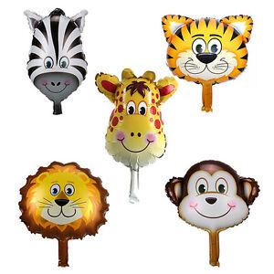 5stk-Tierkopf-Geburtstag-Folienballon-Luftballon-Heliumballon-Tier-Ballon-K9R2