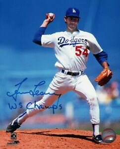Tim-Leary-Signed-8X10-Photo-034-WS-Champs-034-Autograph-LA-Dodgers-Pitching-Auto-w-COA