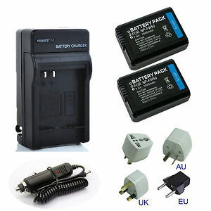 1500mAh Battery / Charger for Sony NP-FW50 Alpha A3000 A3500 A5000 A6500 A6000