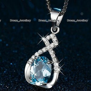 Infinity Blue Diamond Necklace Special Gifts for Her Women BLACK FRIDAY DEALS X4 - London, United Kingdom - Infinity Blue Diamond Necklace Special Gifts for Her Women BLACK FRIDAY DEALS X4 - London, United Kingdom