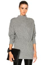 NWT Rag & Bone 'Dale' Merino Wool Turtle Light Grey Sweater Size S $395