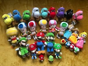 Super Mario Plush Teddy Collection Choice Of 35 Different Heroes
