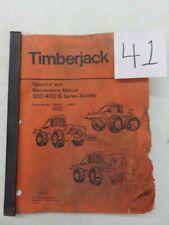 Timberjack 300400 B Series Skidder Operation And Maintenance Manual