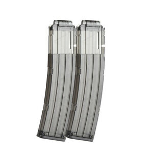 Worker-Mod-2PCS-22-darts-Magazine-Banana-Clip-for-Stryfe-Toy-Black-Clear