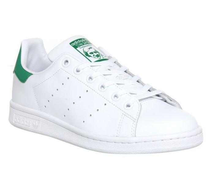 Adidas Originals Women's Stan Smith in White Green