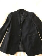 NWOT Burberry London Navy Wool Blazer with Removable Gilet (Size: US 38R)