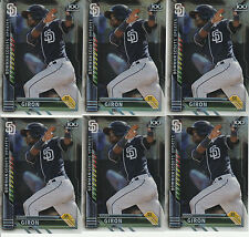 6 RUDY GIRON REFRACTOR SCOUTS UPDATES TOP 100 RC LOT 2016 BOWMAN CHROME