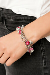 Paparazzi-Jewelry-Bracelet-Completely-Innocent-Pink-NWT-2019-Convention-496