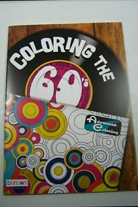 Details about Bendon Coloring the 60s Advanced Coloring Book 16 pages  Hippie Psychedelic VW