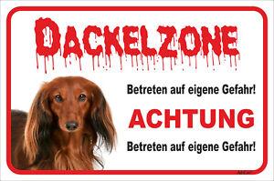 Der GüNstigste Preis Dackel Langhaar Rot Schild Vorsicht 15x20-40x60cm StäRkung Von Sehnen Und Knochen Zone