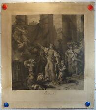 XIX e printemps par Rembrant gravure à l'eau-forte gravée par le Vasseur