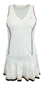 Adidas-Pharrell-Williams-Ny-Solid-Damen-Tennis-Kleid-Shorts-Weiss-BQ9112-A94B