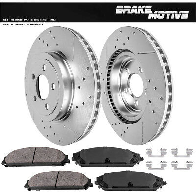 Front Drill And Slot Brake Rotors /& Ceramic Pads For 2000-2005 Dodge Neon