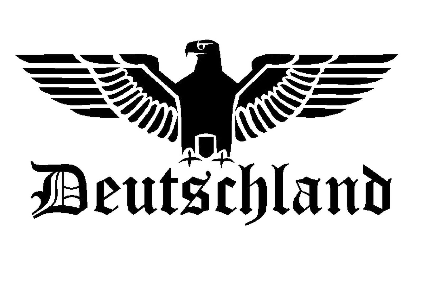reichsadler auto aufkleber sticker schrift adler deutschland 60x30cm ebay. Black Bedroom Furniture Sets. Home Design Ideas
