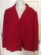 NWT Cato Woman 24W Plus Size Jacket  Blazer Red