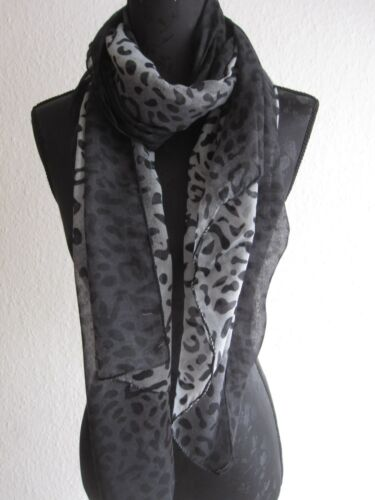 Weicher Schal Leo Leopard Halstuch leichter Tuch Frühling Neu
