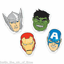AVENGERS Superhero Boys Birthday Party Bag Fillers 12 Piece Rubbers Erasers