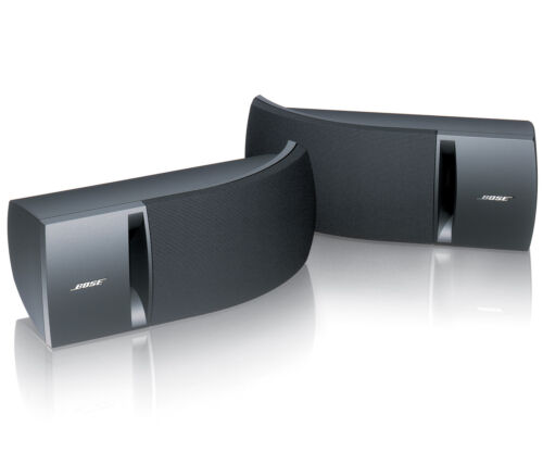 BOSE 161 SPEAKER SYSTEM WITH BRACKETS BLACK PAIR NEW