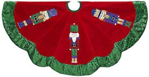 """Adler 48/"""" Velvet Nutcracker Tree Skirt Kurt S"""