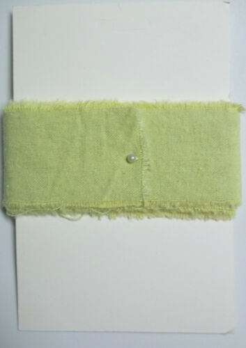 6 Feet of Raw Muslin Color Celery 1-3//4 In wide New on Card