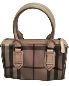 ebb8b3d431 Image is loading Burberry-Purse-Authentic-Chester-Trench-Smoked-Satchel- Leather-