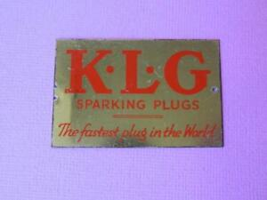 BASSETT-LOWKE-O-GAUGE-TINPLATE-MODEL-RAILWAY-K-L-G-SPARK-PLUGS-ADVERTISING-SIGN