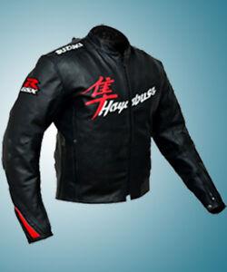 Suzuki Motorcycle Leather Jacket Racing Motorbike Cowhide Leather Jacket Armors