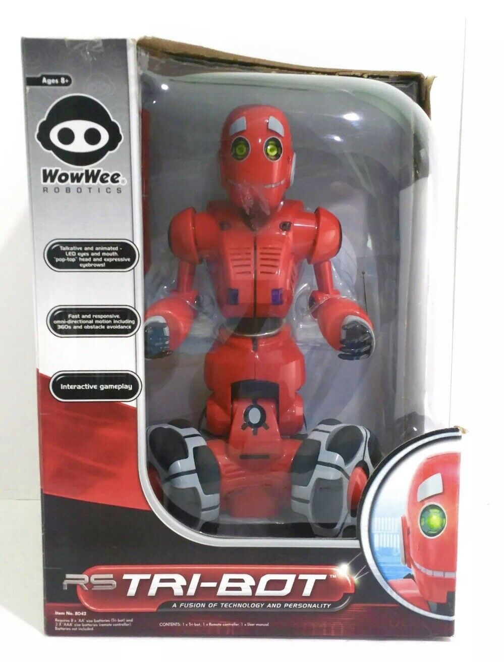 WowWee RS TRIBOT Talking Companion, LARGE, Remote Control Tri-Bot, Item 8042 NEW