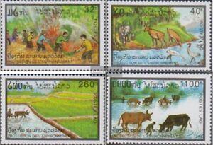 Laos-1374-1377-kompl-Ausg-postfrisch-1993-Umweltschutz
