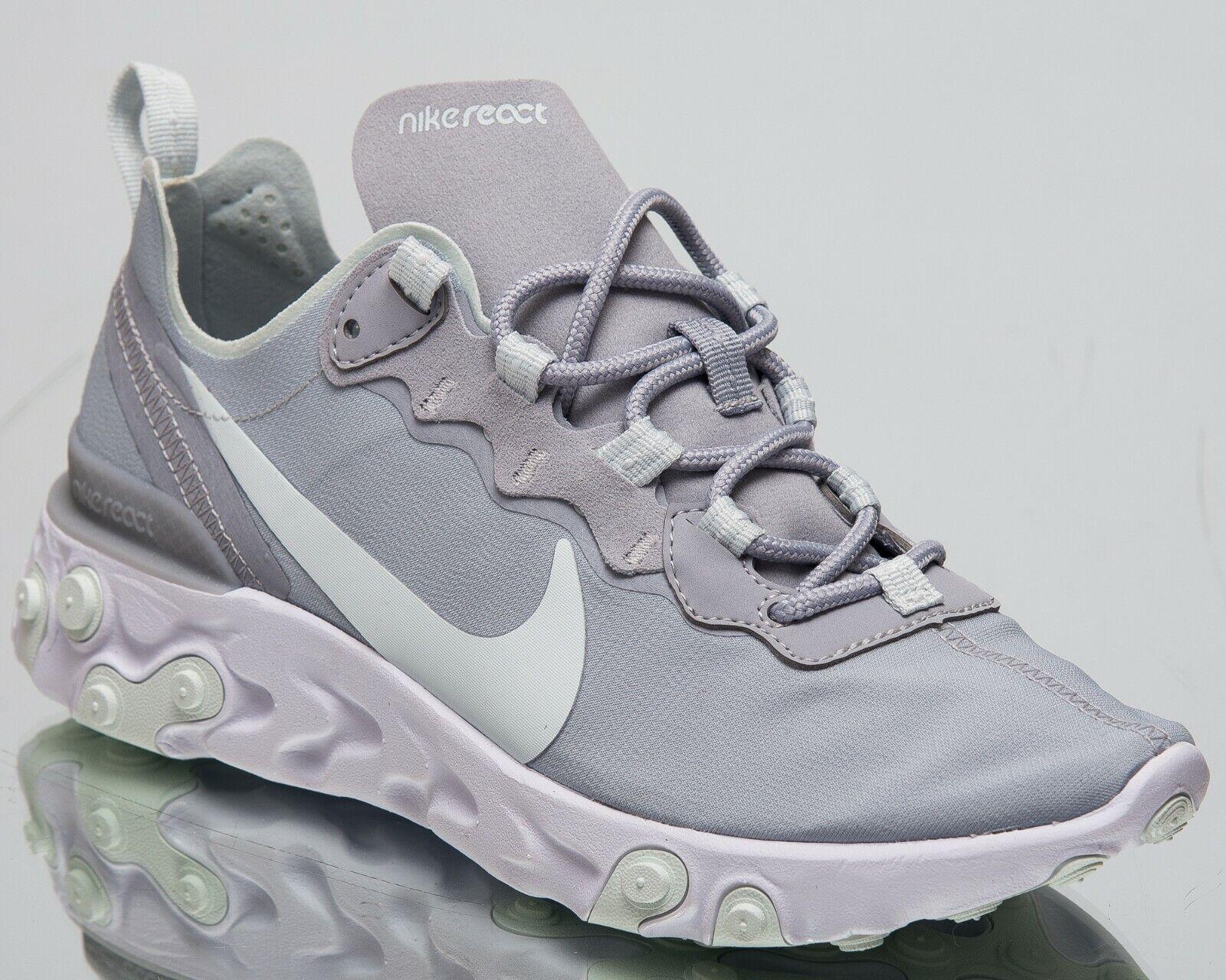Nike donna React Element 55 New New New Lifestyle scarpe Wolf grigio Ghost Aqua BQ2728-005 aa07b3