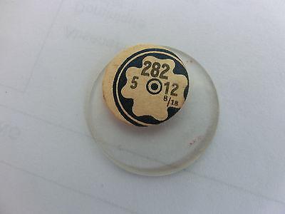 Aggressiv Taschenuhr!armbanduhr Glas Leicht Gwölbt Neu Durchmesser 28,2mm (nr.282)