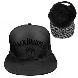 123114-JACK-DANIELS-DANIEL-039-S-OLD-NO-7-FLAT-PEAK-ADJUSTABLE-SNAP-BACK-HAT-CAP